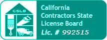 contractor state licensing board business installs